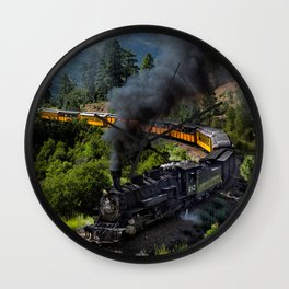 Steam Train, Durango & Silverton Railroad, Colorado Wall Clock