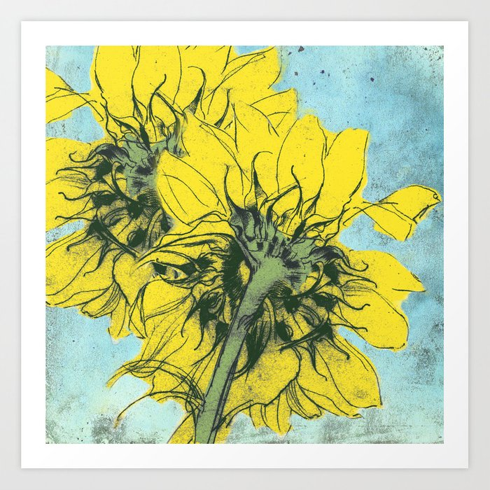 The sunflowers moment Art Print