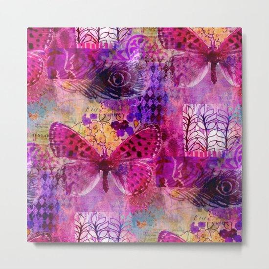 Butterflies Dream In Pink Metal Print