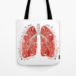 folky lungs Tote Bag