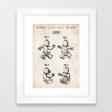 LEGO TOY 3D MINIFIGURE MINI FIGURE 1979 PATENT ART PRINT MOVIE POSTER GIFT Framed Art Print