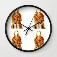tenenbaum Wall Clocks featuring Classic Margot Tenenbaum  by obtuseboy