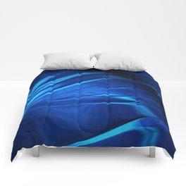Dark Blue Abstraction Comforters