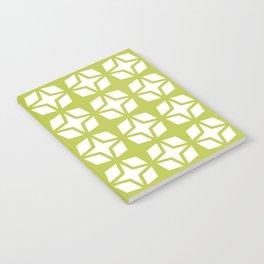 Mid Century Modern Star Pattern Chartreuse 552 Notebook