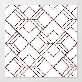 Pink black white geometrical abstract cheetah animal print Canvas Print