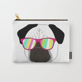 Pug,dog  with sunglasses illustration Carry-All Pouch