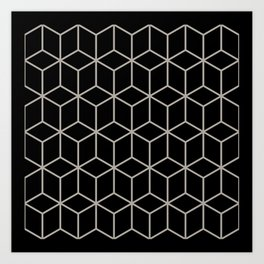 Optical Illusion  in Black and White Art Print