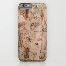Anatomical Sketches - Leonardo Da Vinci iPhone Case