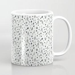 Watercolor Dots, White Coffee Mug