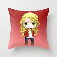 ouat Throw Pillows featuring OUAT - Chibi Emma Swan by Yorlenisama