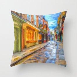 Medieval Shambles York Art Throw Pillow