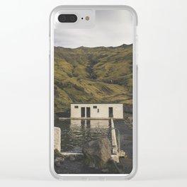 Seljavallalaug Pool, Vik, Iceland Clear iPhone Case