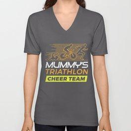 Mummys Cheer Team Triathlon  Unisex V-Neck