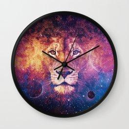 Galaxy Lion Face Wall Clock