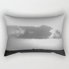 Evening clouds over the sea Rectangular Pillow
