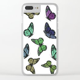 Multi Colored Butterfly Pattern Clear iPhone Case