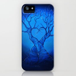 Blue heart-forest. iPhone Case