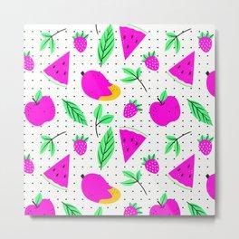 pink fruits Metal Print