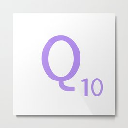 Monogram Letter Q Purple Scrabble Metal Print
