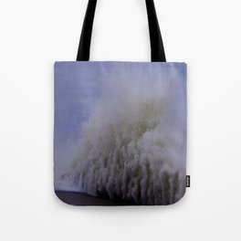 When Sandy Made Waves in Chicago #9 (Chicago Waves Collection) Tote Bag