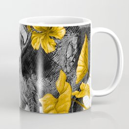 Jurassic Stegosaurus: Gold & Gray Coffee Mug