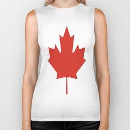 red maple leaf flag of Canada Biker Tank