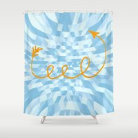 arrow Shower Curtains featuring Arrow by Mr and Mrs Quirynen