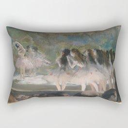 Ballet at the Paris Opéra, 1877, Edgar Degas Rectangular Pillow