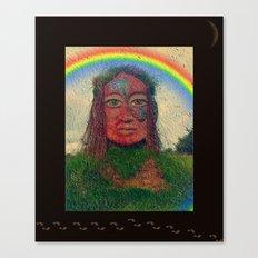 Rainbow Irish StoneFace Canvas Print