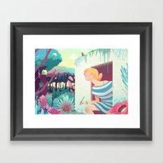 Walking Out Framed Art Print