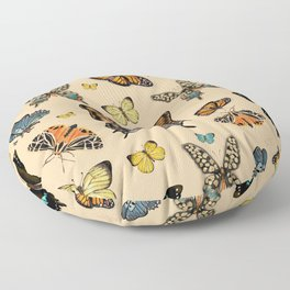Inspirational butterflies & moths warm tones collection Floor Pillow