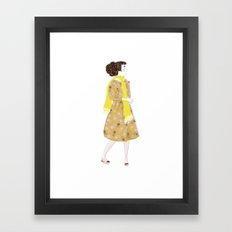Cute girl Framed Art Print
