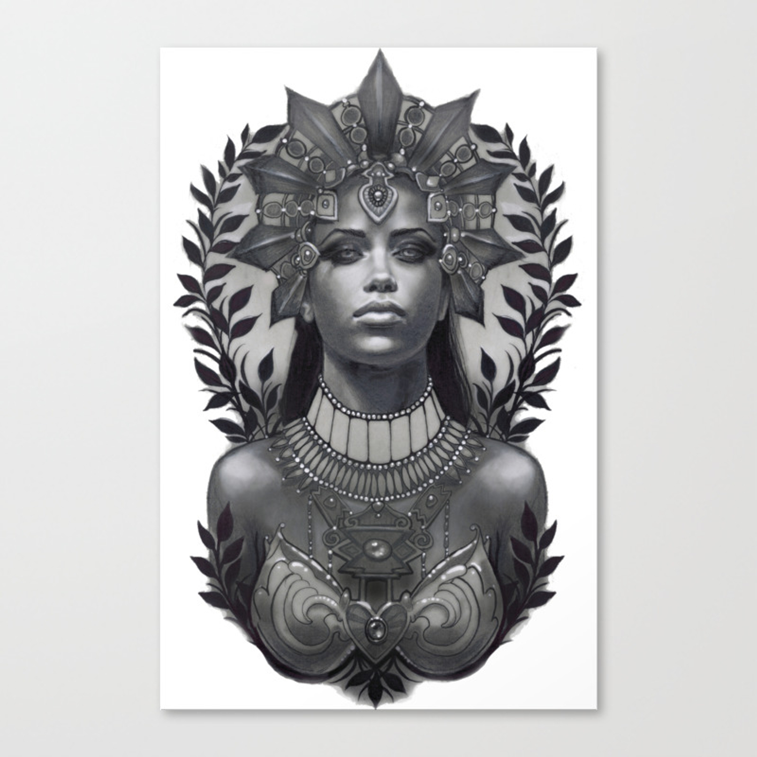 Queen Of The Damned Canvas Print By Lifelesssatellite Society6