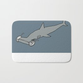 4-Eyed Hammerhead Shark Week Bath Mat