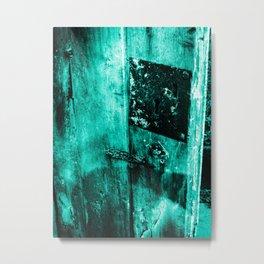Keypunch Lock Metal Print