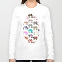 preppy Long Sleeve T-shirts featuring Floral Herd by Girly Trend