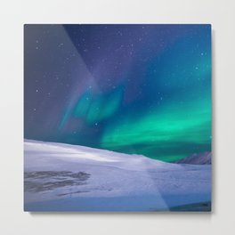 winter sky aurora Metal Print