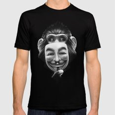 Anonymous MEDIUM Black Mens Fitted Tee