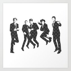 One Direction - Vintage Art Print