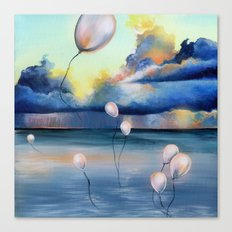 Balloons Over Water Canvas Print