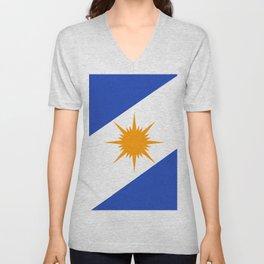flag of tocantins Unisex V-Neck