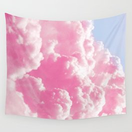 Retro cotton candy clouds Wall Tapestry
