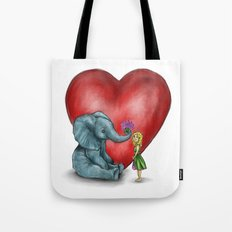 Pachyderm's  bouquet Tote Bag