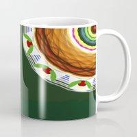 cake Mugs featuring Cake by Ordiraptus