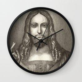 Christ by Da Vinci Wall Clock
