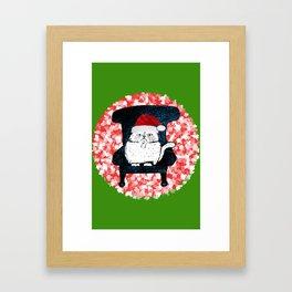 My Cat at Christmas Framed Art Print