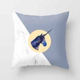Unicorn in Starry Night Throw Pillow