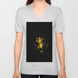 Glacier National Park, Glacier Lilies, Botanical Photography, Floral Print, Yellow Flowers Unisex V-Neck