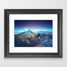 The Sea Of Space Framed Art Print