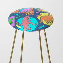 Nineties Dinosaur Pattern Counter Stool
